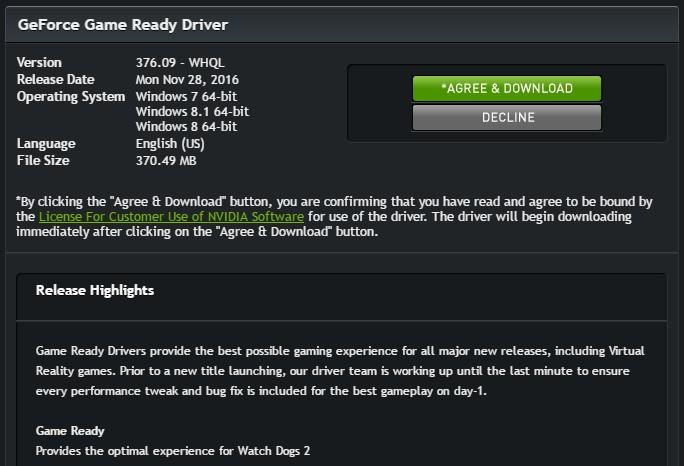 Скачать драйвер geforce game ready driver