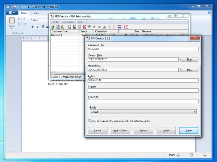 Скачать PDF Creator бесплатно